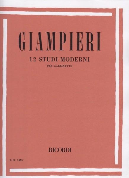 Giampieri, A. : 12 Studi moderni, per Clarinetto