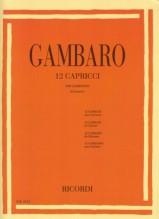 Gambaro, G.B. : 12 Capricci per Clarinetto