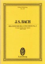 Bach, J.S. : Concerto brandeburghese nr. 3 BWV 1048. Partitura tascabile
