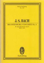 Bach, J.S. : Concerto Brandeburghese nr. 6 in Sol BWV 1051. Partitura tascabile