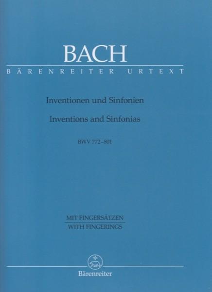 Bach, J.S. : Inventionen und Sinfonien per Clavicembalo BWV 772-801. Urtext