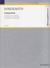 Hindemith, Paul : Concerto per Clarinetto e Orchestra, riduzione per Clarinetto e Pianoforte
