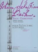 Bach, J.S. : Bach - Exercitium. Préludes, Fantatsies, Toccatas, Exercitium per Flauto dolce Alto solo