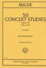 Milde, I. : Concert Studies op. 26 vol. I, per Fagotto