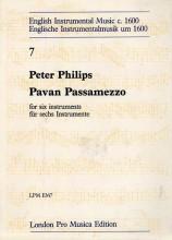 Philips, P. : Pavan Passamezzo, per 6 strumenti