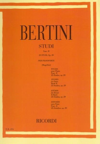 Bertini, E. : 25 Studi op. 29 per Pianoforte, fascicolo II