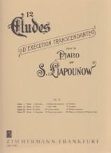 Liapounow, S. : 12 Studi d'esecuzione trascendentale op. 11, vol. III per Pianoforte