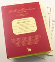 Couperin, F. : Les Nations (Paris, 1726) [This volume includes the complete documentation: the first version in the form of Trio Sonatas (the Lyons and Paris manuscripts) and the definitive version (the 1726 edition)]. Facsimile