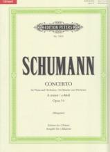 Schumann, Robert : Concerto per Pianoforte e Orchestra op. 54, riduzione per 2 Pianoforti. Urtext