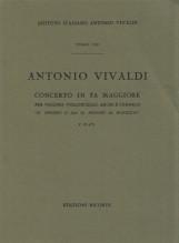 Vivaldi, A. : Concerto in fa, per Violino, Violoncello, Archi e Cembalo Il Proteo o sia il mondo al rovescio, F. IV, n. 5. Partitura