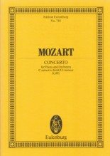Mozart, W.A. : Concerto KV 491 in do minore per Pianoforte e Orchestra. Partitura tascabile