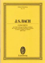 Bach, J.S. : Concerto BWV 1041 in la minore per Violino, Archi e Basso continuo. Partitura tascabile