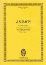 Bach, J.S. : Concerto per 2 Clavicembali, Archi e Basso continuo, BWV 1061. Partitura tascabile