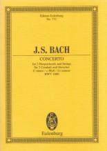 Bach, J.S. : Concerto per 2 Clavicembali e Archi, BWV 1060. Partitura tascabile