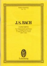Bach, J.S. : Concerto per 3 Clavicembali, Archi e Basso continuo BWV 1064. Partitura tascabile