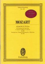 Mozart, W.A. : Adagio e Fuge in do per Archi KV 546, versione per 2 Pianoforti K 426. Partitura tascabile