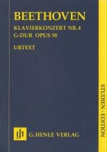 Beethoven, Ludwig van : Concerto per Pianoforte e Orchestra nr. 4 op. 5. Partitura tascabile. Urtext