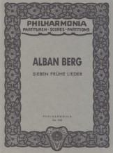 Berg, A. : Sieben Frühe Lieder. Partitura tascabile