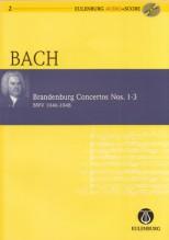 Bach, J.S. : Concerti Brandeburghesi nn. 1-3 BWV 1046-1048. Partitura tascabile + Cd