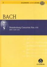 Bach, J.S. : Concerti Brandeburghesi nn. 4-6 BWV 1049-1051. Partitura tascabile + Cd