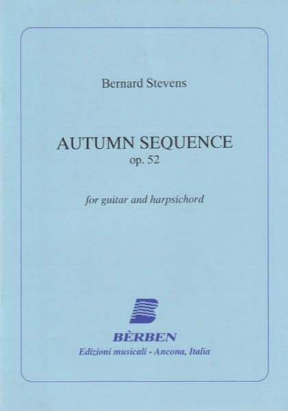 Stevens, B. : Autumn Sequence op. 52, per Chitarra e Clavicembalo