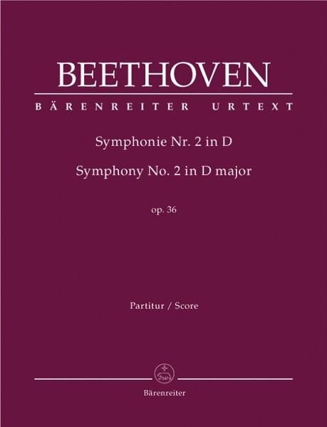Beethoven, L. van : Sinfonia n. 2 in re, op. 36. Partitura. Urtext