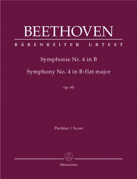Beethoven, L. van : Sinfonia n. 4 op. 60. Partitura. Urtext