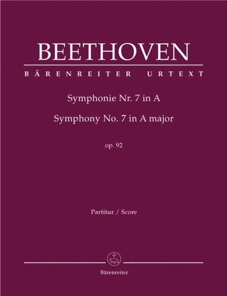 Beethoven, L. van : Sinfonia n. 7 in la op. 92. Partitura. Urtext