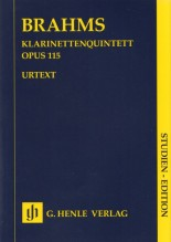 Brahms, J. : Quintetto op. 115, per Clarinetto, 2 Violini, Viola e Violoncello. Partitura tascabile. Urtext