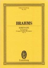 Brahms, J. : Serenata per orchestra in re op. 11. Partitura tascabile