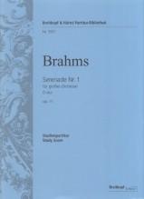 Brahms, J. : Serenata per orchestra in re maggiore op. 11. Partitura tascabile. Urtext