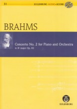 Brahms, J. : Piano Concerto no. 2 op. 83. Partitura tascabile + Cd