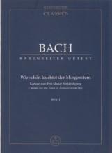 Bach, J.S. : Cantata BWV 1, Wie Schön Leuchtet, partitura tascabile. Urtext