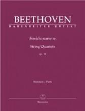 Beethoven, L. van : Quartetti d'archi op. 18, set parti. Urtext