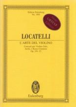 Locatelli, P. A. : L'Arte del Violino. Concerti per Violino solo, Archi e Basso continuo op. 3/9-12. Partitura tascabile. Urtext