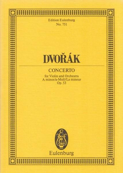 Dvorák, A. : Concerto in la minore op. 53, per Violino e Orchestra. Partitura tascabile