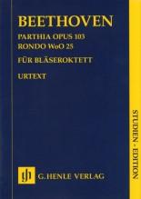Beethoven, L. v. : Parthia op. 103. Rondò WoO 25, per Ottetto di Fiati, partitura tascabile. Urtext