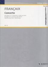 Francaix, Jean : Concerto pour Basson et 11 Instruments à Cordes. Reduction pour Basson et Piano