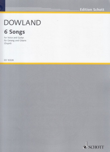 Dowland, J. : 6 Songs for Voice and Guitar