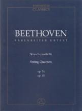 Beethoven, L. van : Quartetti d'archi opp. 74, 95, partitura tascabile. Urtext