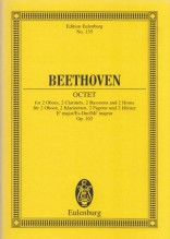 Beethoven, L. v. : Octet Eb major, for 2 Oboes, 2 Clarinets, 2 Bassoons and 2 Horns. Partitura tascabile