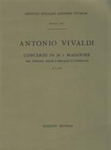 Vivaldi, A. : Concerto in re minore per Violino, Archi e Organo (Clavicembalo) F I, n. 55. Partitura