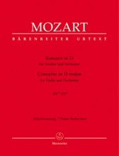 Mozart, W.A. : Concerto per Violino e Orchestra KV2  271a, riduzione per Violino e Orchestra. Urtext