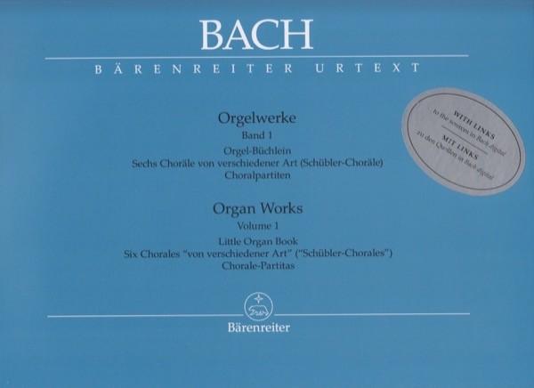 Bach, J.S. : Composizioni per Organo, vol. I: Little Organ Book. Six Chorales von verschiedener Art (Schübler-Chorales). Chorale-Partitas. Urtext