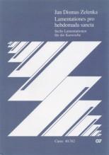 Zelenka, J.D. : Lamentationes pro hebdomada sancta. Partitura