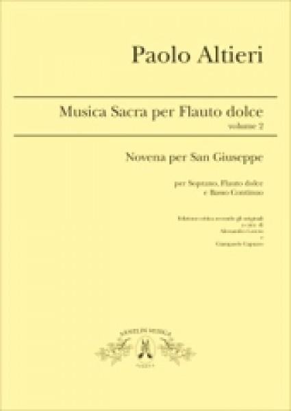 Altieri, P. : Musica per Flauto dolce, vol. 2. Per Soprano, Flauto dolce e Basso Continuo, a cura di A. Loreto e G. Capuzzo
