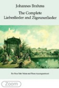 Brahms, Johannes : Liebeslieder op. 52, op. 65 e Zigeunerlieder op. 103 per Coro a 4 voci miste e Pianoforte a 4 mani