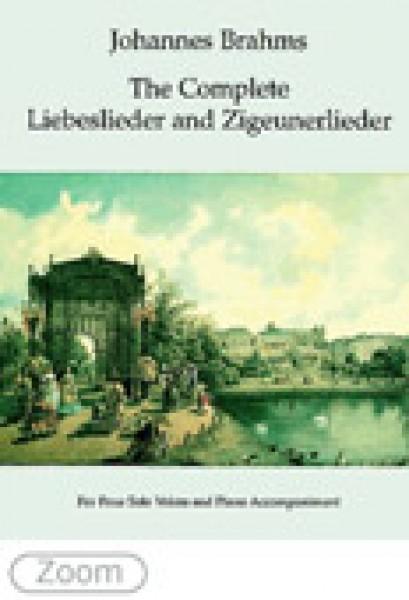 Brahms, J. : Liebeslieder op. 52, op. 65 e Zigeunerlieder op. 103 per Coro a 4 voci miste e Pianoforte a 4 mani
