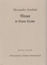 Scarlatti, Alessandro : Messa di santa Cecilia. Riduzione per Canto e Pianoforte