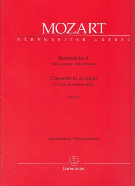 Mozart, W.A. : Concerto K 622, per Clarinetto e Orchestra. Riduzione per Clarinetto e Pianoforte. Urtext